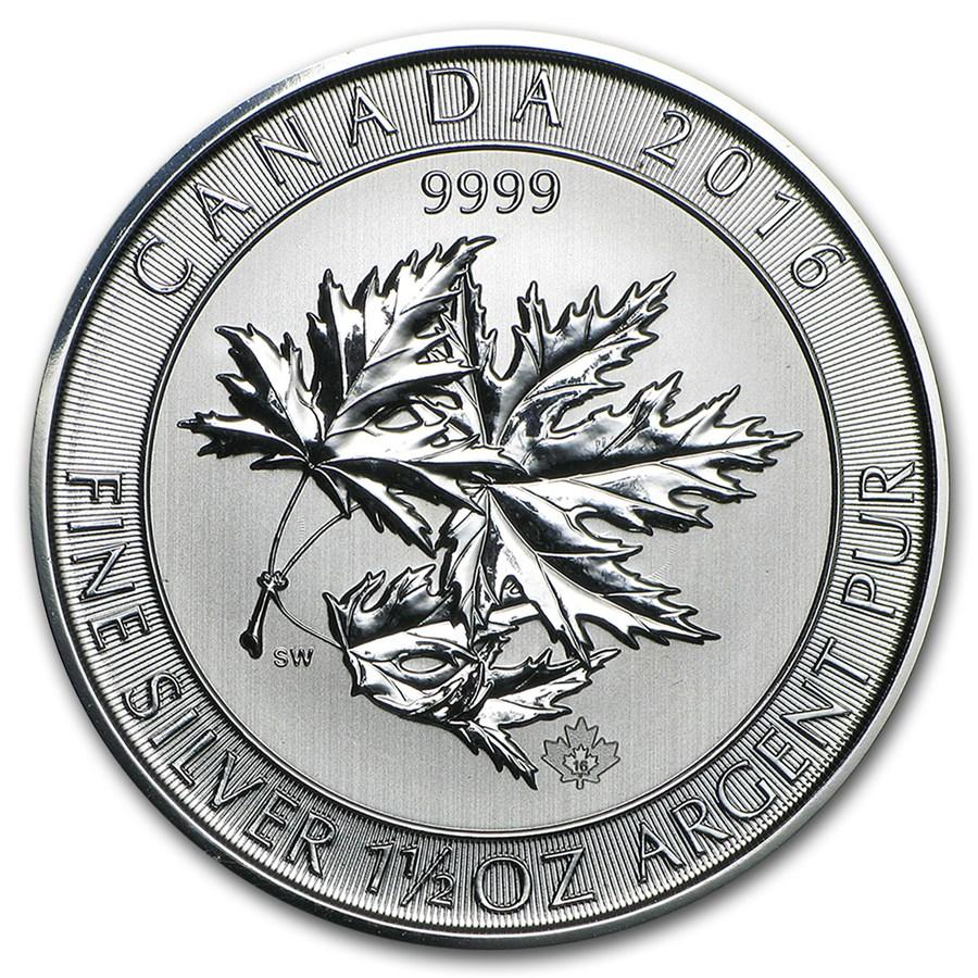 2016 Canada 1.5 oz Silver $8 SuperLeaf BU