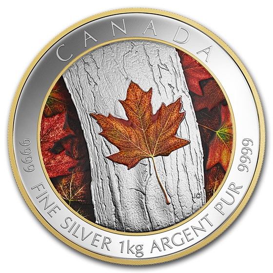 2016 Canada 1 kilo Silver $250 Maple Leaf Forever