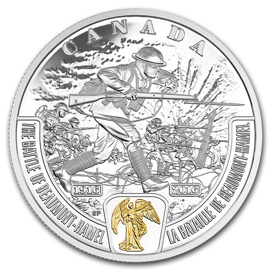 2016 Canada 1 oz Ag $20 WWI Battlefront Series Battle of Beaumont