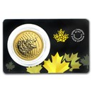 2016 Canada 1 oz Gold Roaring Grizzly Bear .99999 BU (Assay Card)