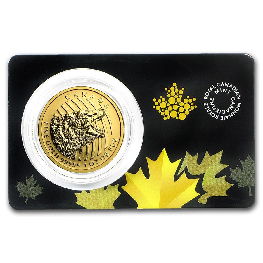 2016 Canada 1 oz Gold Roaring Grizzly Bear .99999 BU (Assay Card)