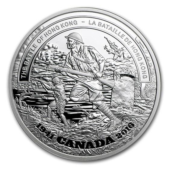 2016 Canada 1 oz Proof Silver $20 Battle of Hong Kong