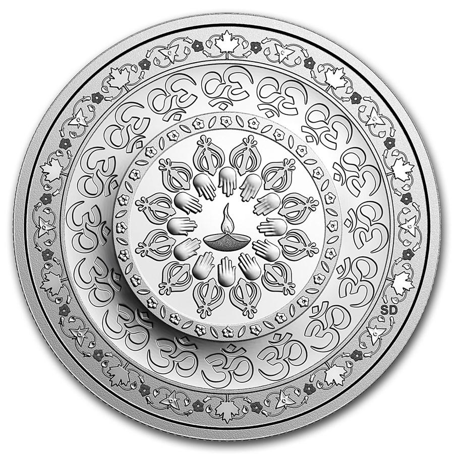2016 Canada 1 oz Proof Silver $20 Diwali: Festival of Lights