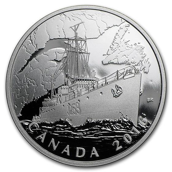 2016 Canada 1 oz Silver $20 Canadian Homefront: U-Boat Patrol