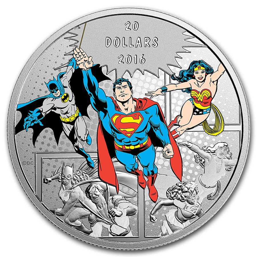 2016 Canada 1 oz Silver $20 Comics Originals: The Trinity Proof