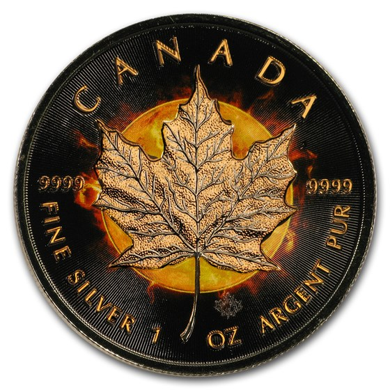2016 Canada 1 oz Silver $20 Eclipse of the Sun Rose Gold Proof