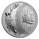2016 Canada 1 oz Silver $5 Five Blessings BU