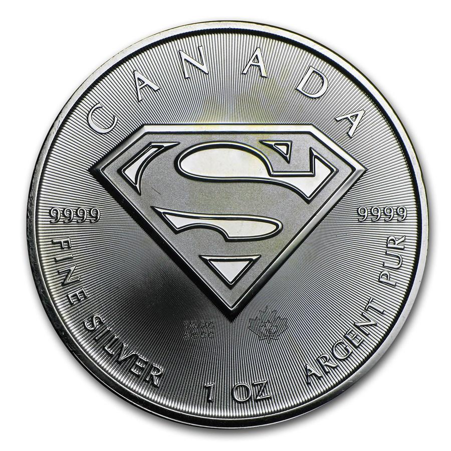 2016 Canada 1 oz Silver $5 SUPERMAN™ BU (Abrasions)