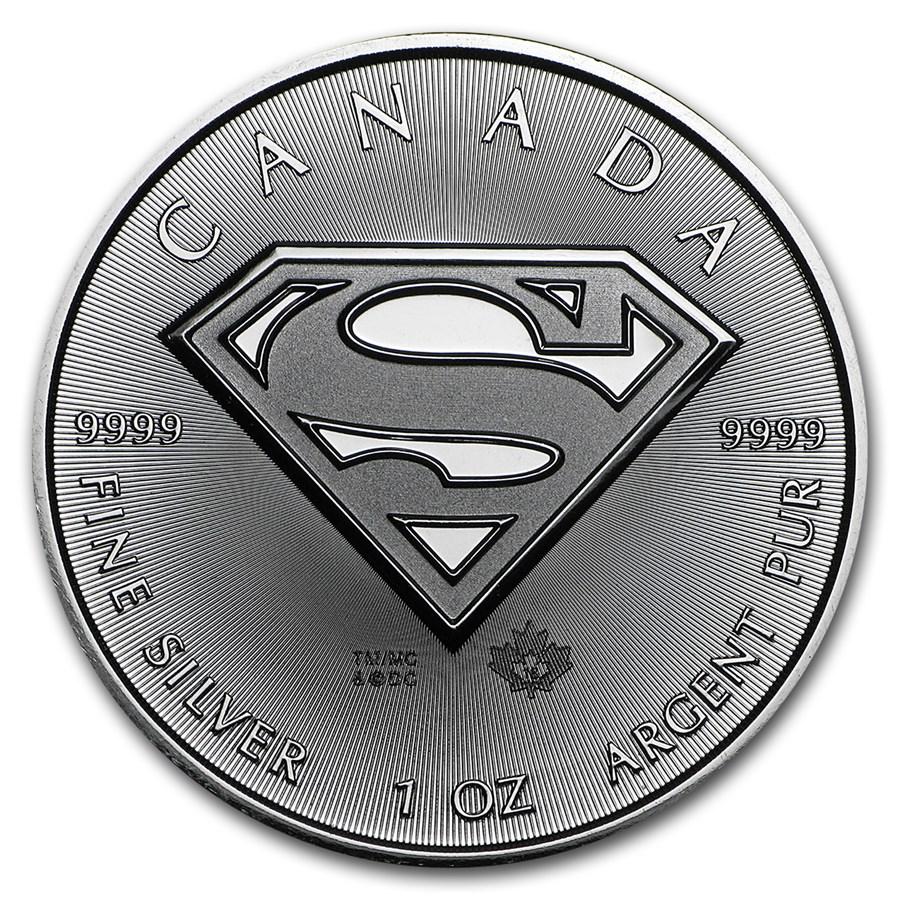 2016 Canada 1 oz Silver $5 SUPERMAN™ BU