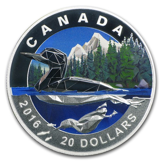 2016 Canada 1 oz Silver Geometry in Art: The Loon Proof