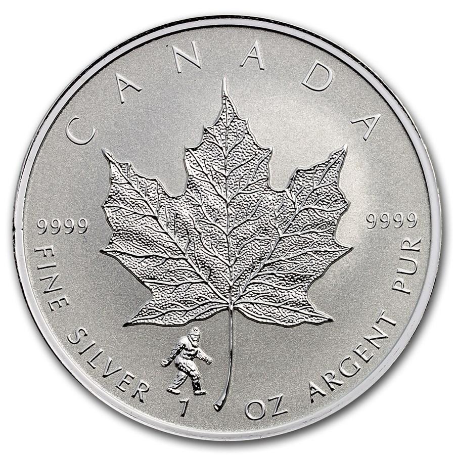 2016 Canada 1 oz Silver Maple Leaf Bigfoot Privy
