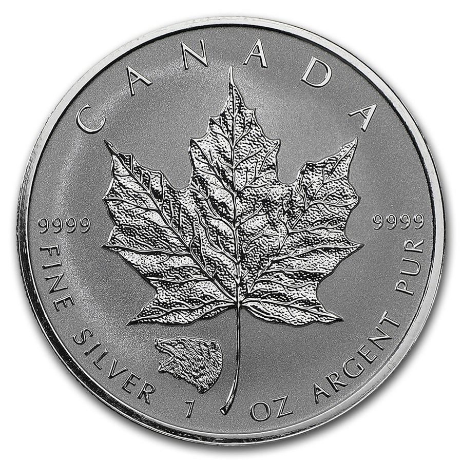 2016 Canada 1 oz Silver Maple Leaf Grizzly Privy Reverse Proof