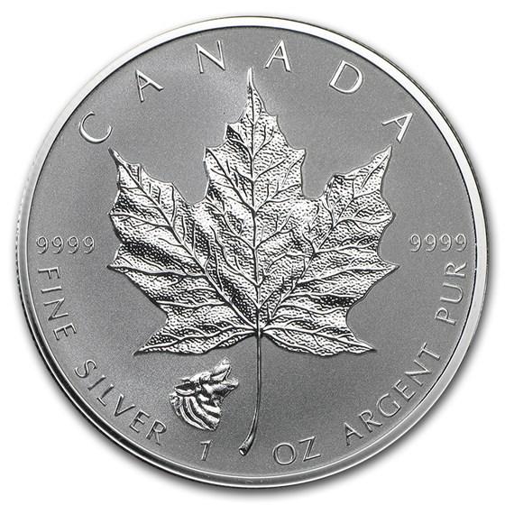 2016 Canada 1 oz Silver Maple Leaf Wolf Privy Reverse Proof