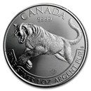 2016 Canada 1 oz Silver Wildlife Cougar (Abrasions, Spotted)