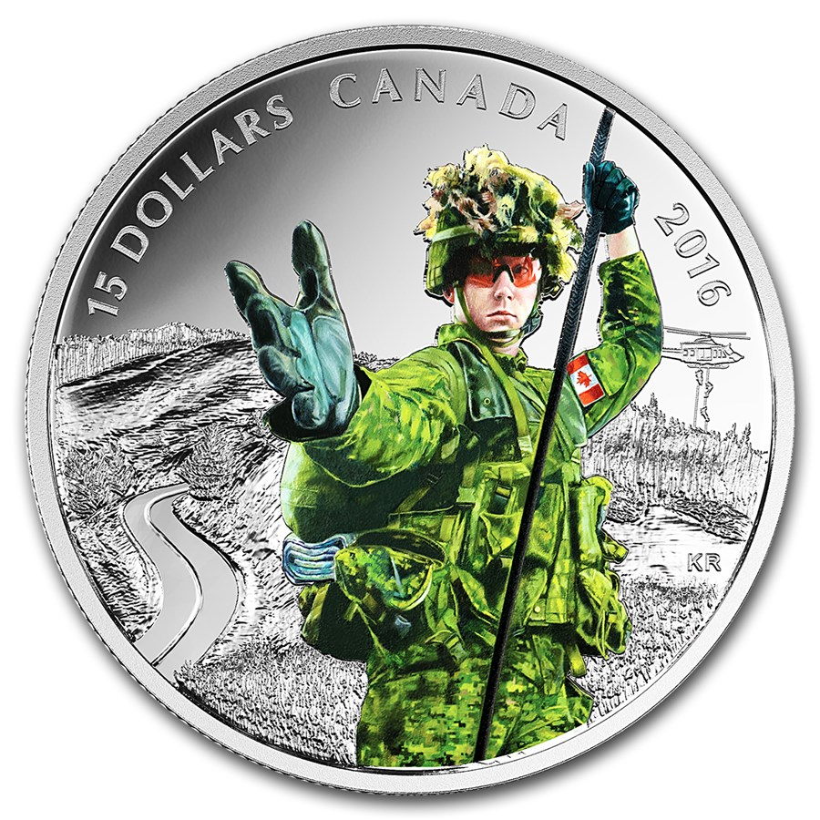 2016 Canada 2/3 oz Silver $15 National Heroes Military