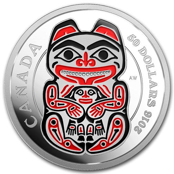 2016 Canada 5 oz Silver Mythical Realms of the Haida Series: Bear