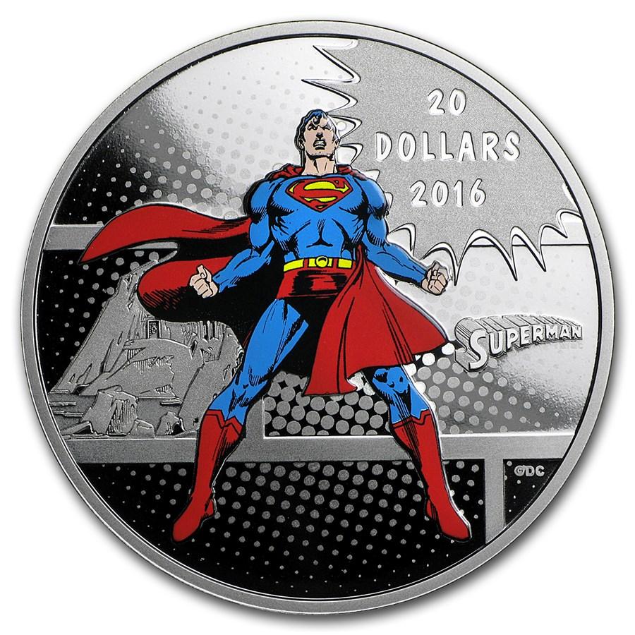 2016 Canada Proof 1 oz Silver $20 Comics Originals: Man of Steel