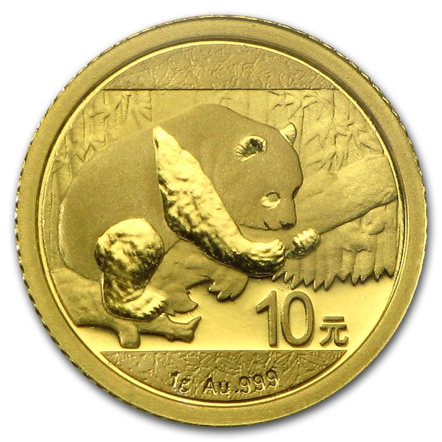 2016 China 1 gram Gold Panda BU (Sealed)