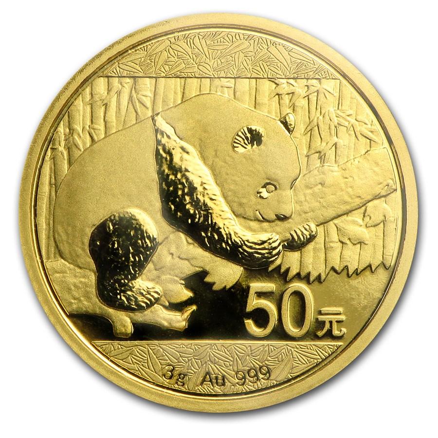 2016 China 3 gram Gold Panda BU (Sealed)