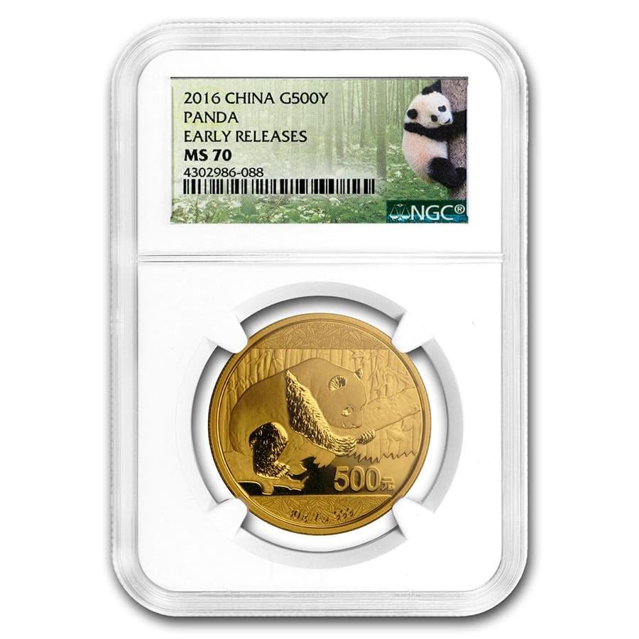 2016 China 30 gram Gold Panda MS-70 NGC (ER)
