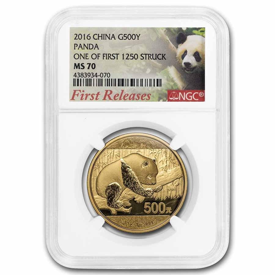 2016 China 30 Gram Gold Panda MS-70 NGC (FR)