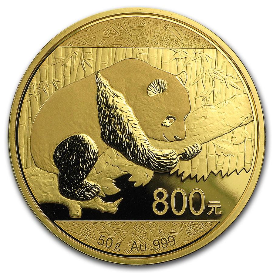 2016 China 50 gram Gold Panda Proof (w/Box & COA)