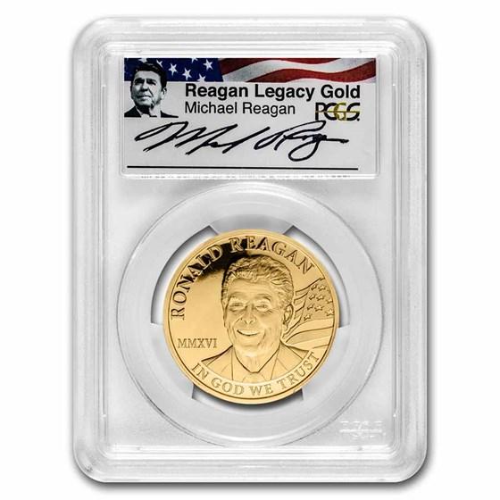 2016 Cook Islands 1 oz Gold Ronald Reagan PR-70 PCGS (FS)