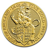 2016 Great Britain 1/4 oz Gold Queen's Beasts The Lion