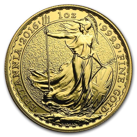 2016 Great Britain 1 oz Gold Britannia BU Coin