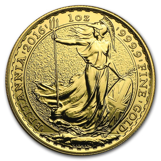2016 Great Britain 1 oz Gold Britannia BU