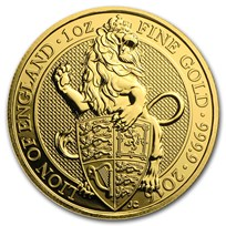 2016 Great Britain 1 oz Gold Queen's Beasts The Lion