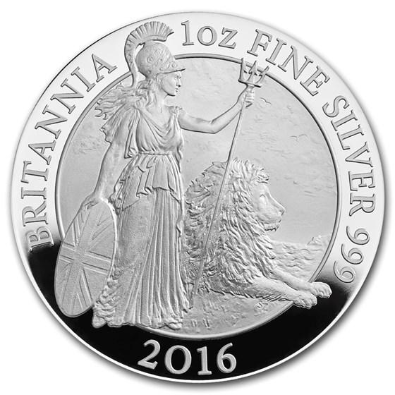 2016 Great Britain 1 oz Proof Silver Britannia