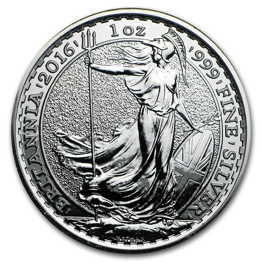 2016 Great Britain 1 oz Silver Britannia (Abrasions)