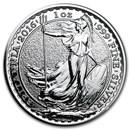 2016 Great Britain 1 oz Silver Britannia BU