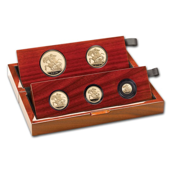 2016 Great Britain 5-Coin Gold Sovereign Proof Set
