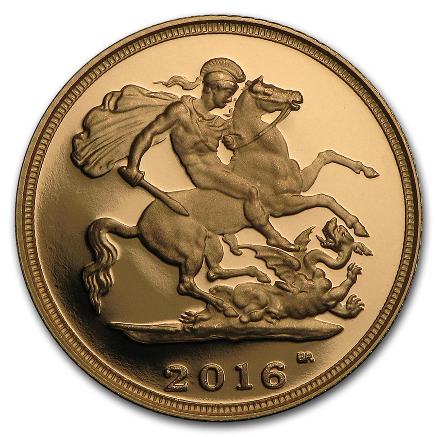 2016 Great Britain Gold 1/2 Sovereign Proof (w/Box & COA)