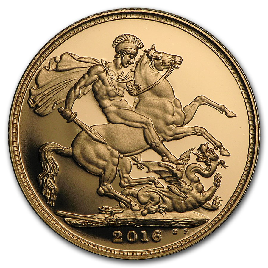 2016 Great Britain Gold Sovereign Proof (w/Box & COA)