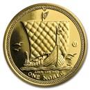 2016 Isle of Man 1 oz Gold Noble BU