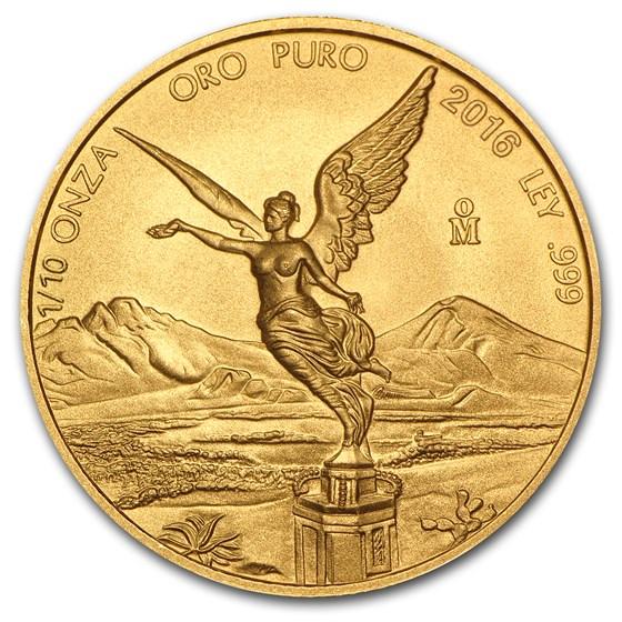 2016 Mexico 1/10 oz Gold Libertad BU
