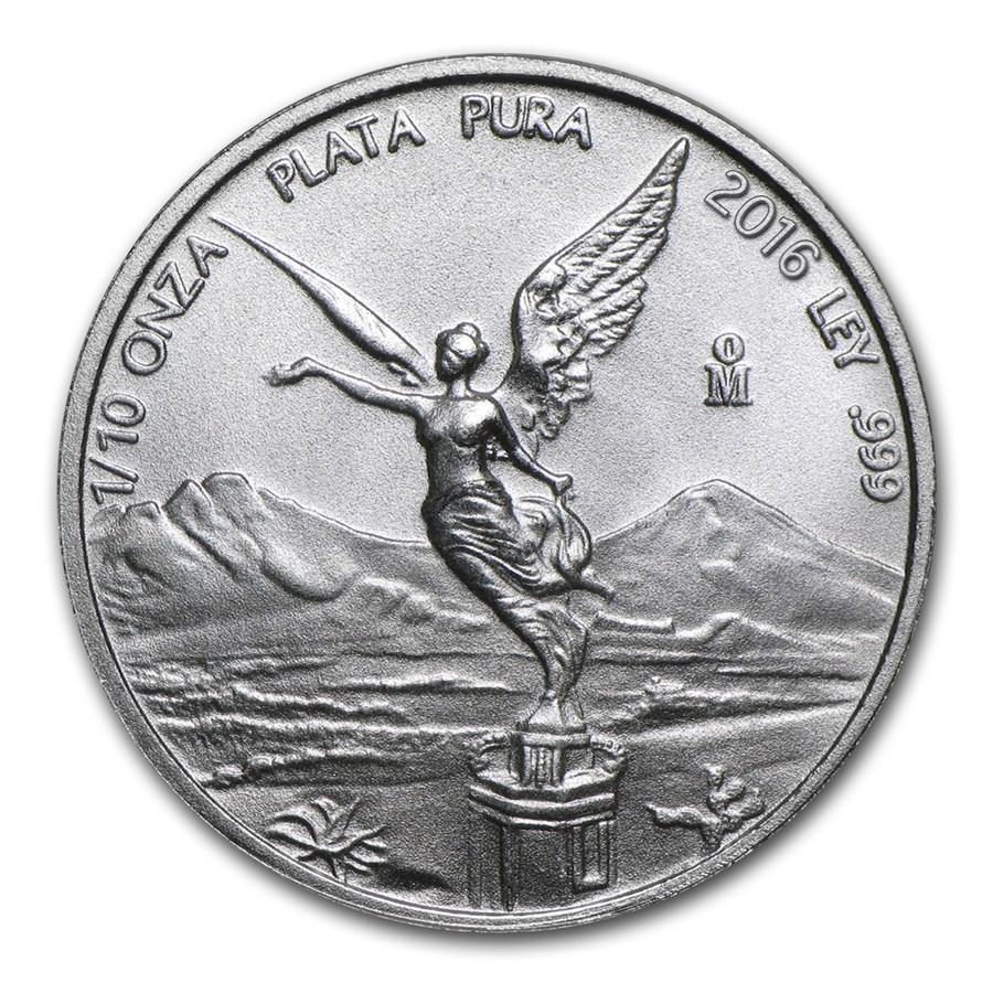 2016 Mexico 1/10 oz Silver Libertad BU