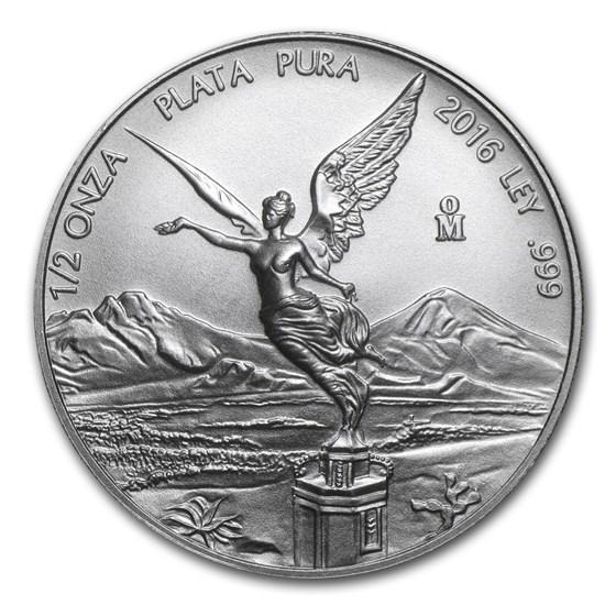 2016 Mexico 1/2 oz Silver Libertad BU