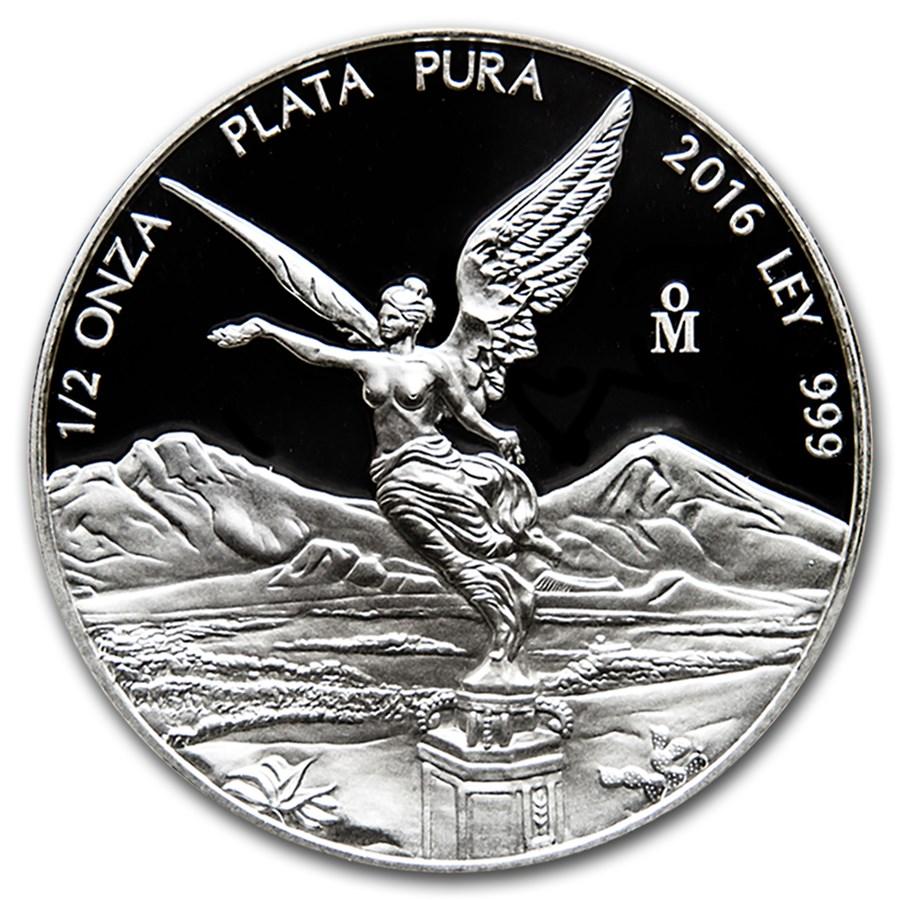 2016 Mexico 1/2 oz Silver Libertad Proof (In Capsule)