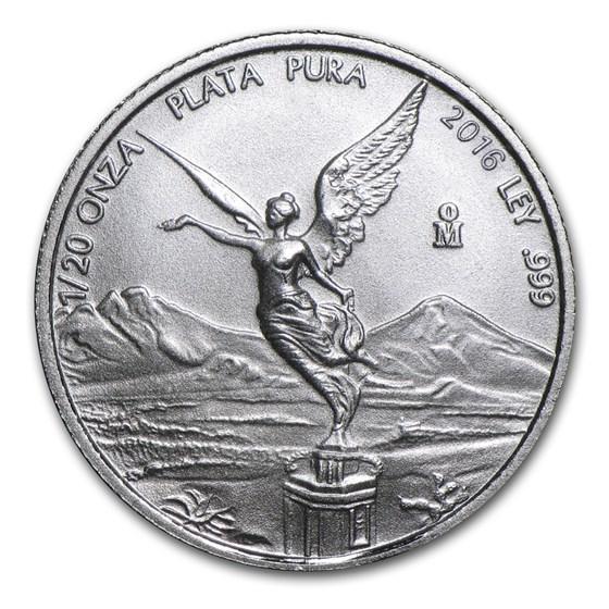 2016 Mexico 1/20 oz Silver Libertad BU