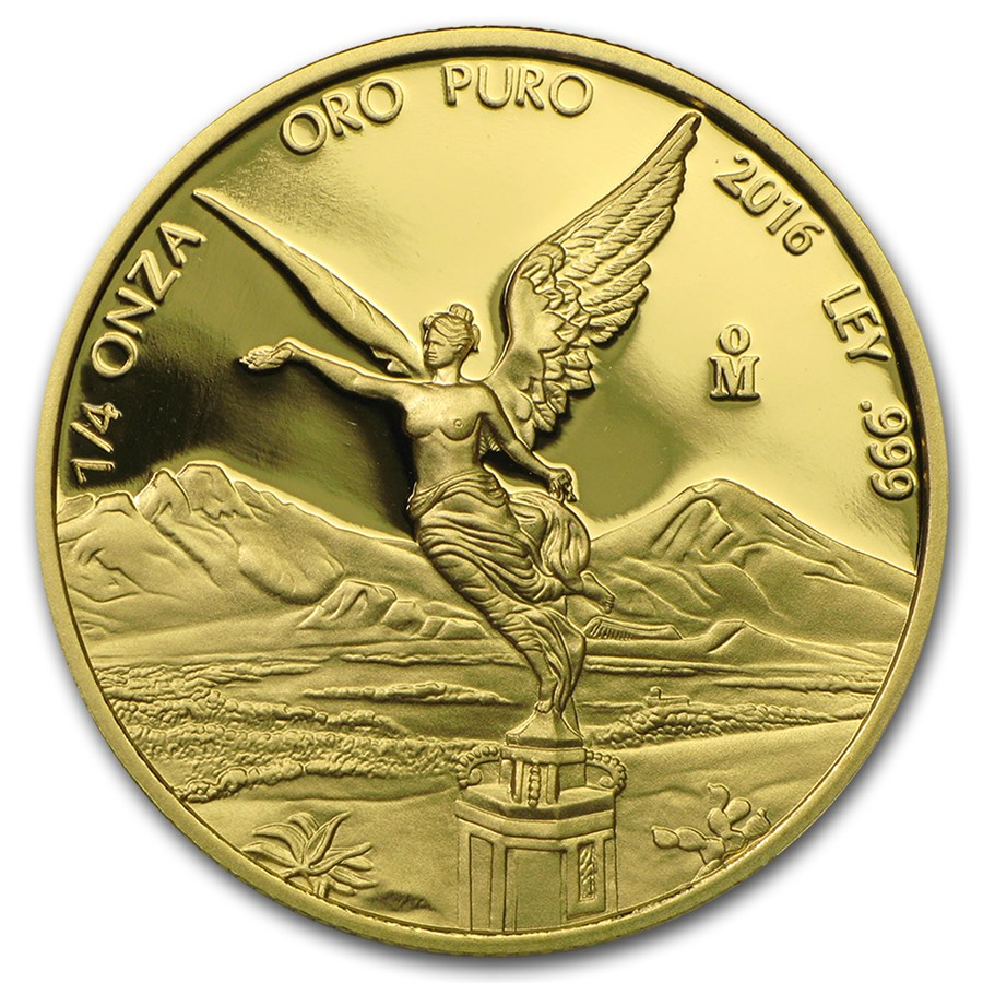 2016 Mexico 1/4 oz Proof Gold Libertad