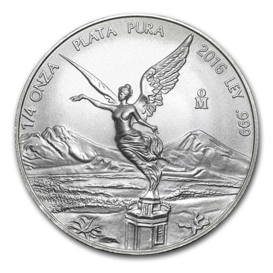 2016 Mexico 1/4 oz Silver Libertad BU