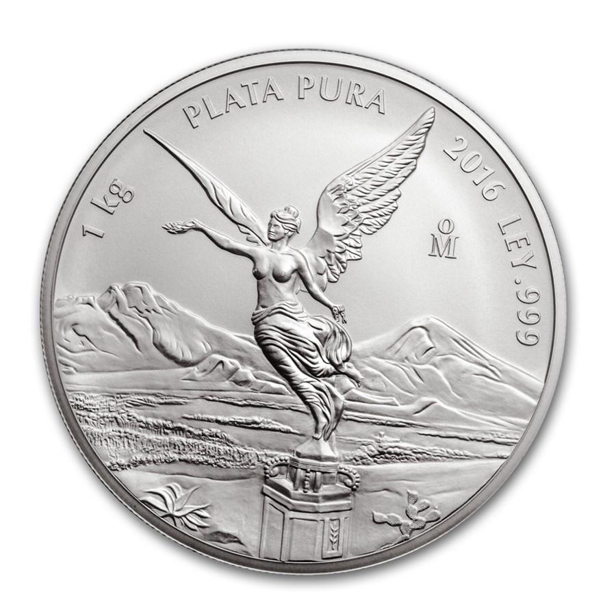 2016 Mexico 1 kilo Silver Libertad BU (In Capsule)