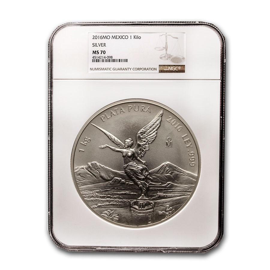 2016 Mexico 1 kilo Silver Libertad MS-70 NGC