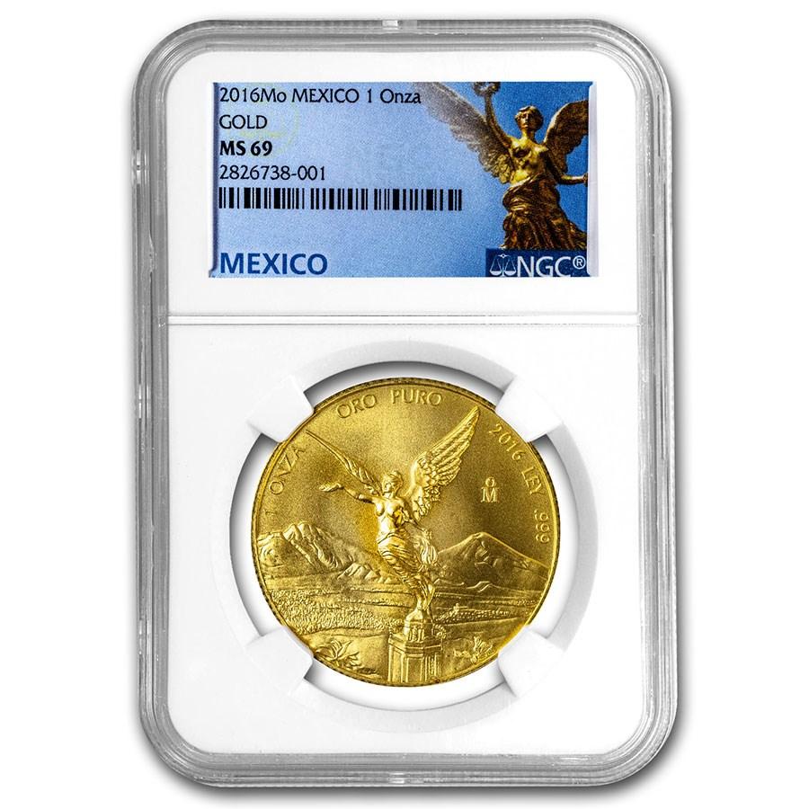 2016 Mexico 1 oz Gold Libertad MS-69 NGC