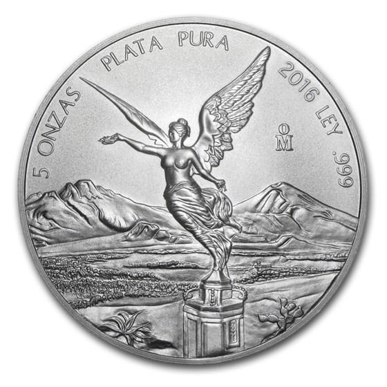 2016 Mexico 5 oz Silver Libertad BU