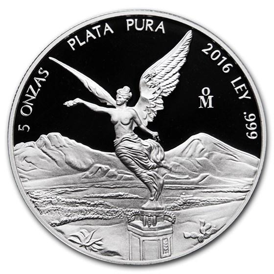 2016 Mexico 5 oz Silver Libertad Proof (In Capsule)